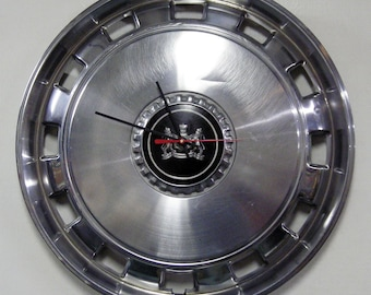 1975 - 1989 Mercury Hub Cap Clock - Grand Marquis Hubcap Garage Decor - 1976 1977 1978 1979 1980 1981 1982 1983 1984 1985 1986 1987 1988