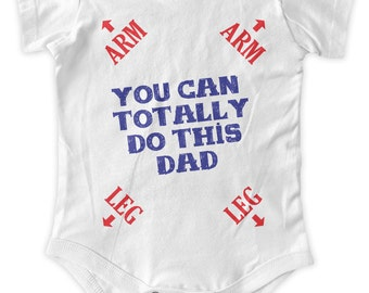 You Can Do This Dad  Baby One Piece Body Suit Gifts Baby Graphic Infant Clothing Baby Shower Gift Short Sleeve