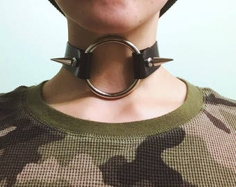 MADE-TO-ORDER Hedon Leather Choker Collar