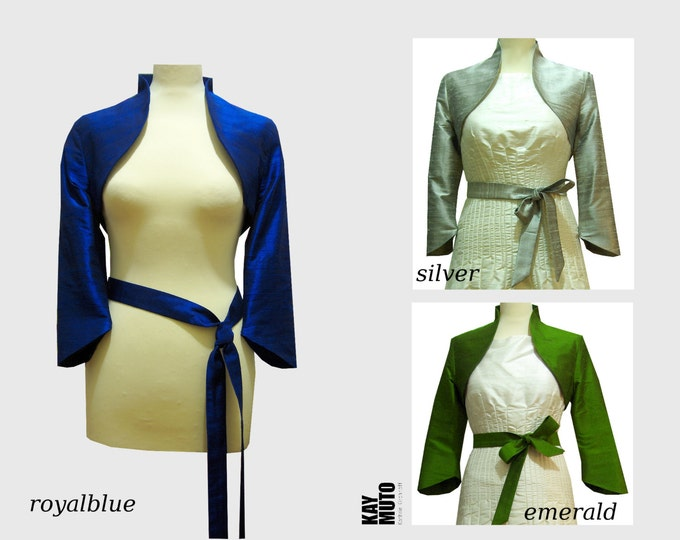 Bolero Jacket Silk bolero classic Bolero Silkribbon Silk bow tie color choice