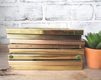 """8 Vintage Frames Gold Brass Tones 5"""" x 7"""" Wedding Table Number Holders Picture Frames"""