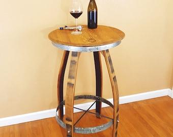 Wine Barrel Pub Table Rustic Furniture Home Decor Patio