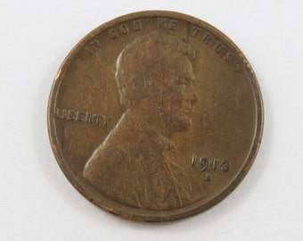 U.S. 1913 S  Lincoln One Cent Coin.