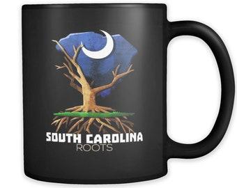 Native Root Land South Carolina US State Hometown Black 11ozMug