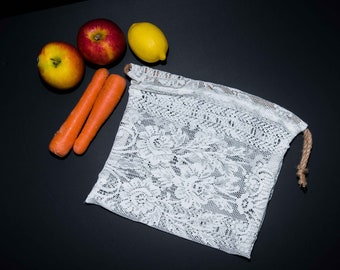 Reusable lace produce bag (L)