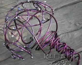 Colored Metal Bridal Bouquet: Alternative Arrangement with Your Choice of Color and Adornment