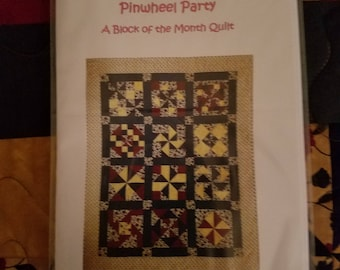Quilt Pattern - Pinwheel Party - A Block of the Month Pattern