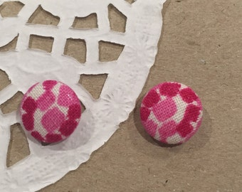 Fabric stud earrings