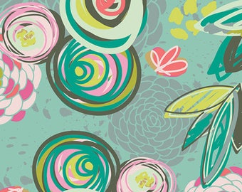 Art Gallery Sprayed Blooms Bright Cotton Quilting Fabric