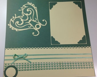 """2-page coordinated 12"""" x 12""""scrapbook layouts - Hearts"""
