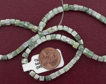 4mm cube gemstone sesame jasper beads