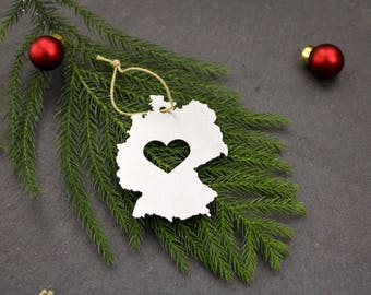 Germany Country Europe  Ornament Rustic Home Winter Decor Gift for Him Her Holiday Travel Souvenir Europe Custom Personalized Father's Day