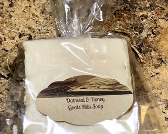 Handmade Goats Milk Oatmeal and Honey Soap Bar