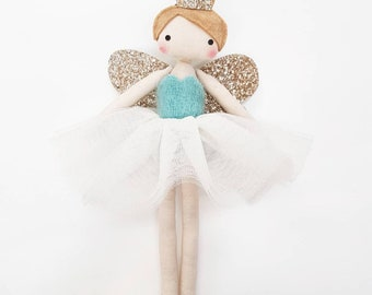 Fully Customisable, Turquoise Vintage Mohair  Fairy Tree Topper