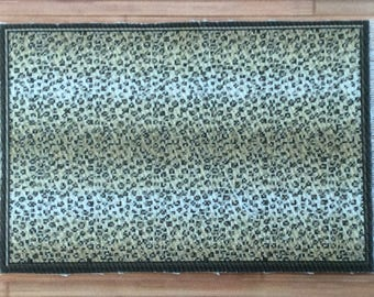 Half Inch Scale Panther Printed Rug