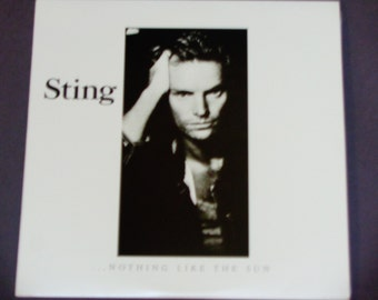 """Sting - Nothing Like the Sun - """"Be Still My Beating Heart""""  """"Englishman in New York""""  """"Fragile"""" - A&M 1987 - Vintage Vinyl 2LP Record Album"""