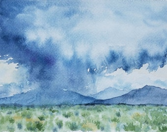 48/100 Watercolor Landscape | Original Watercolor | Watercolor Landscape | Painting | Landscape Painting