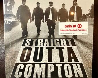 Straight Outta Compton (Blu-ray / DVD / Digital HD Copy) (Steelbook Exclusive) - Brand New