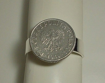 Poland Vintage Coin Ring 1949