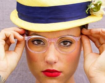Vintage Eyeglass 1990s Frames Made By Henri De Paris Designer Frames New Old Stock Made In France Smaller Size Pink Color