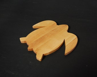 Sea Turtle Cutting Board - Hardwood Wood Cutting Board - Handmade Cutting Board - Large Cutting Board