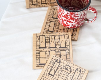 Drinks on the House, Row Home drink coasters