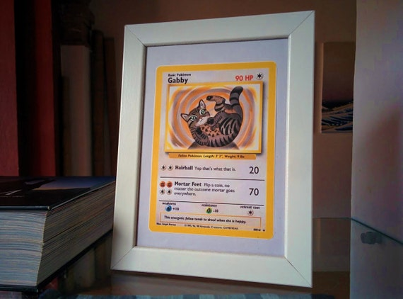 Oversized card for frame: your pet as a pokemon