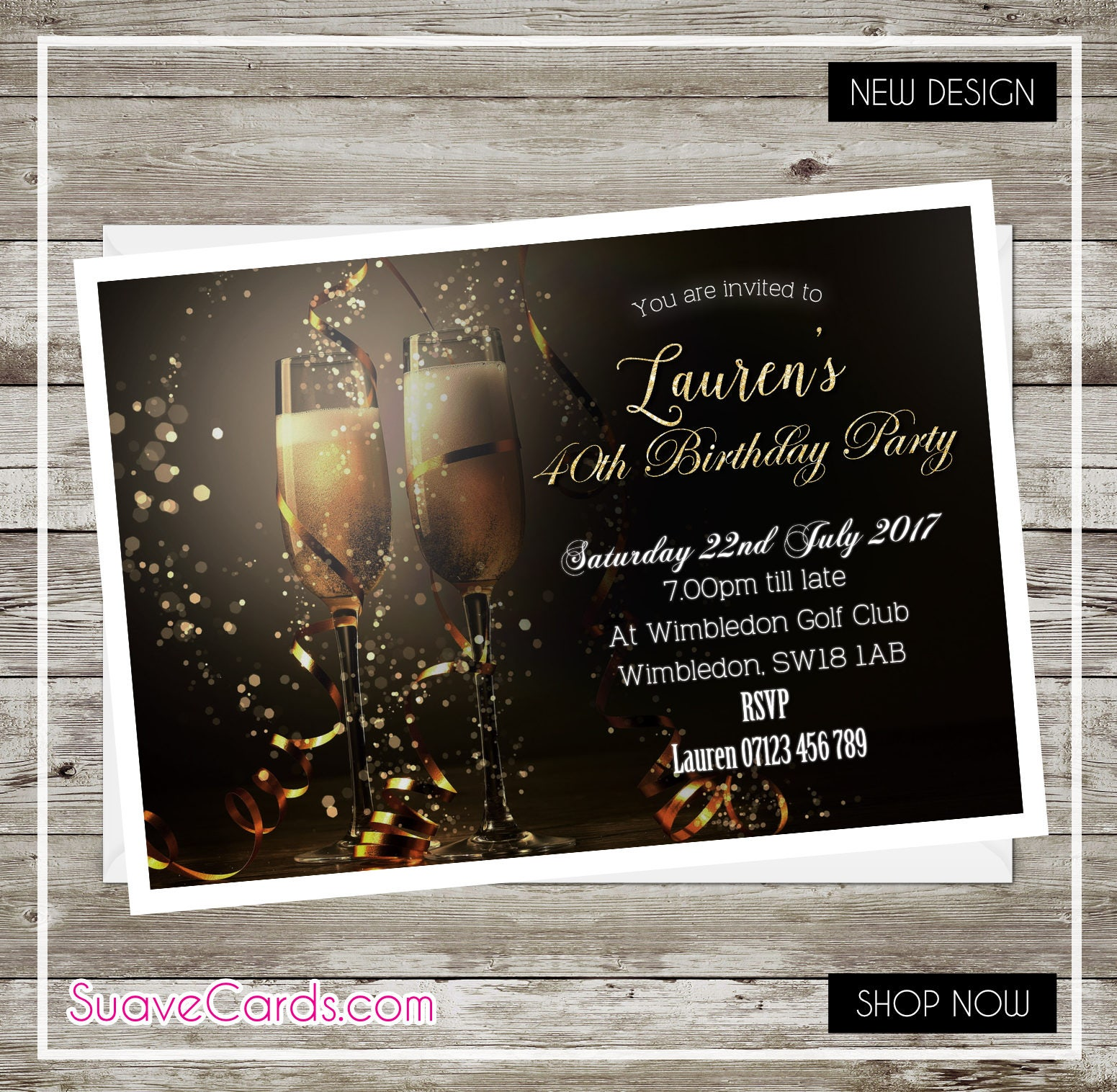Personalised 40th birthday invitations gallery baby shower 50x personalised birthday party invitations for 40th 50th 60th filmwisefo