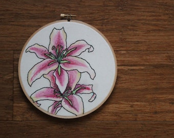 Tiger Lilly- Embroidery