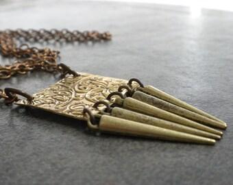 Ready to Ship Bohemian Jewelry Long Brass Necklace Bohochic