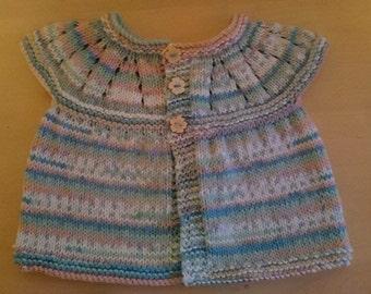 Baby girls multicoloured short sleeved cardigan
