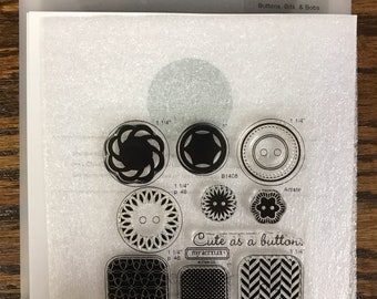 B1408 Buttons, Bits, & Bobs  - CTMH My Acrylix Stamp Sets
