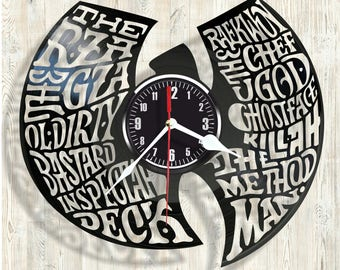 Wu-Tang Clan vinyl record wall clock best eco-friendly gift for any occasion