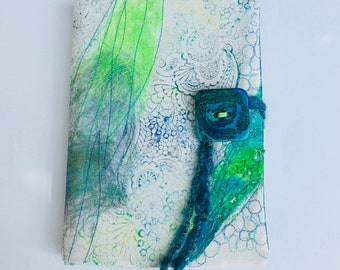 Funky Textile Journal Cover, Boho Notebook Cover, Margaritaville note book, A5 notebook