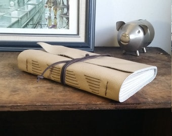 Large Leather Journal, Light Brown Hand-Bound 6 x 9 Journal by The Orange Windmill on Etsy 1759