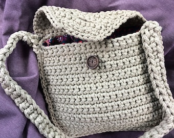 Tan Crocheted Purse