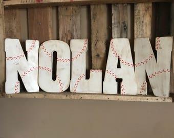 Baseball Wall Decor, Baseball Letter, Personalized Baseball Sign, Baseball  Baby Shower, Baseball