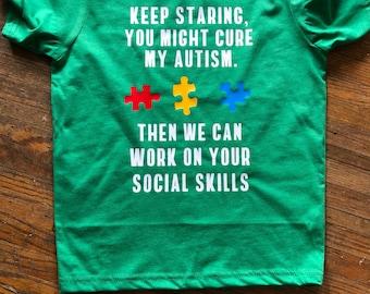 Autism Awareness shirt| Ausome | Autism love | Autism kid shirt