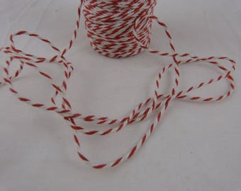 Red and white color cotton by the yard