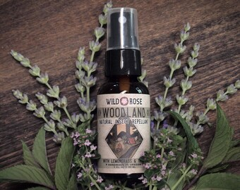 Natural Insect Repellent - WOODLAND - Organic Bug Spray Essential Oils - 1oz//30ml