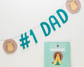 Personalised Bunting for Dad   Number 1 Dad   Number 1 Daddy   Father's Day Gift Bunting   #1 Dad Daddy
