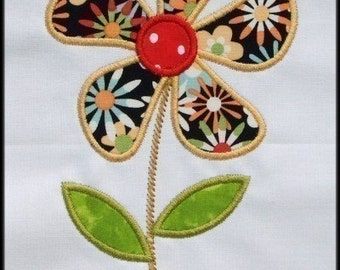 INSTANT DOWNLOAD Daisy machine embroidery applique designs 3 sizes