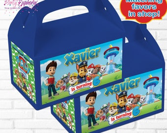 Paw Patrol Birthday | Paw Patrol Party Favors | Paw Patrol | Paw Patrol Gable Boxes  | Paw Patrol Favor Boxes |  Paw Patrol Gift Boxes