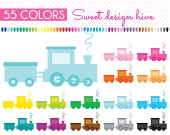 Train Clipart, Transportation Clipart, Trains Clipart, Toy clipart, Kid toy clipart, Commercial Use, PL0254