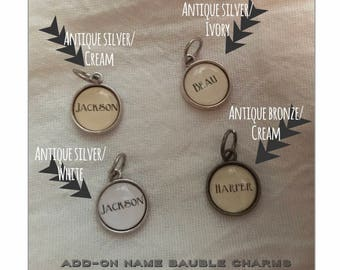 Personalized name charm