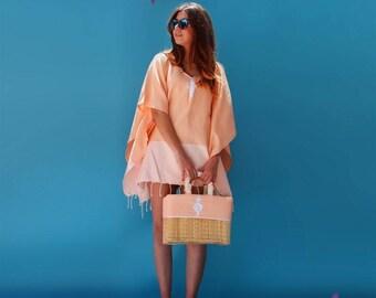 beach dress/straw bag/swimsuit/vintage/tote bag/boho/personalized gift/dress/bikini/handmade/poncho/beach/gift