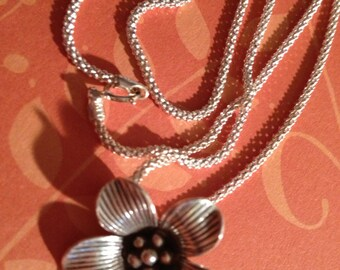 Karen Hill Tribe Silver Flower and chain