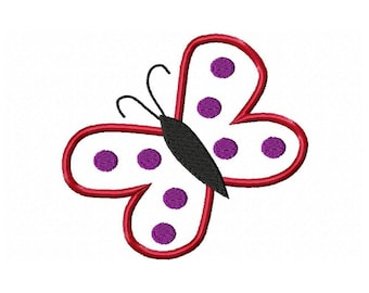 Instant Download Butterfly Embroidery Machine Applique Design-609