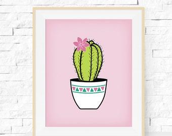 Cactus Print - Cactus Plant Garden Art Print - Cactus Print - Home Decor - Cactus Art - Botanicals Wall Art