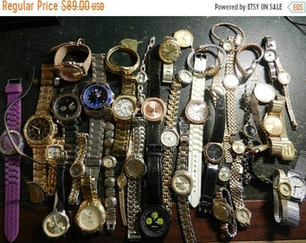 Spring Sale 43 Used Vintage Wrist Watche Collection